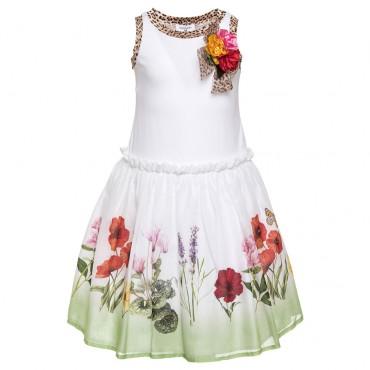 Sukienka dziewczęca Monnalisa 002533, euroyoung, oryginalna odzież dla dzieci.