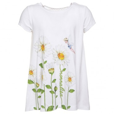 Dziewczęca bluzka z kontrafałdą Monnalisa 002545