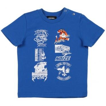 Oryginalne ubranka dla niemowląt. Koszulka chłopięca DIESEL, sklep online 002566