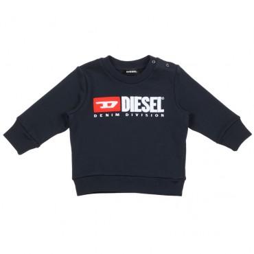 Granatowa bluza niemowlęca permanent Diesel 002568