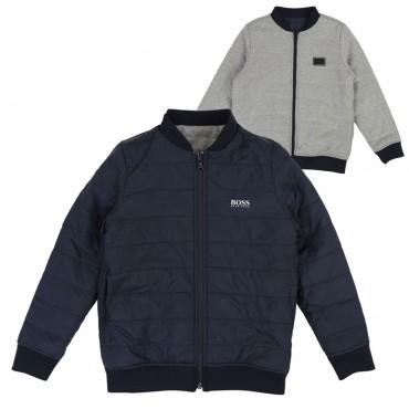 Dwustronna kurtka-bluza chłopięca Hugo Boss 002569