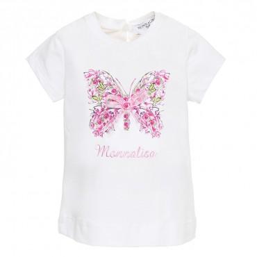 Koszulka niemowlęca z motylem Monnalisa 002588