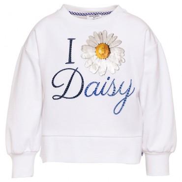 Biała bluza dziewczęca Daisy Monnalisa 002596