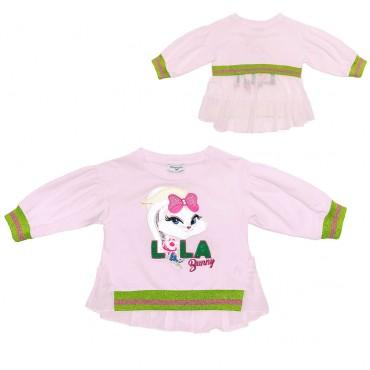 Różowa bluza LOLA Monnalisa 002598 A