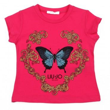 Markowe ubrania dla dzieci, koszulka Liu Jo 002615
