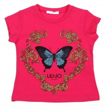 Markowe ubrania dla dzieci, koszulka dziewczęca Liu Jo 002615