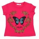 Koszulka dziewczęca z motylem Liu Jo 002615