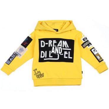 Oryginalne ubrania dla dzieci, Diesel, bluza 002624.
