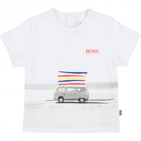 Koszulka chłopięca, ekskluzywne ubranka HUGO BOSS 002628