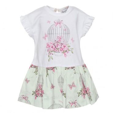 Ekskluzywne ubranka dla niemowląt. Sukienka Monnalisa 002643.