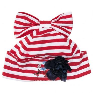 Ekskluzywne ubranka dla niemowląt. Czapka Monnalisa 002644.
