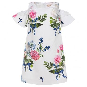 Ekskluzywne ubrania dla dzieci, sukienka Monnalisa 002651.