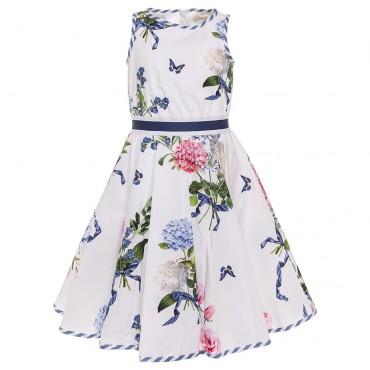 Ekskluzywne ubrania dla dzieci, sukienka Monnalisa 002669.