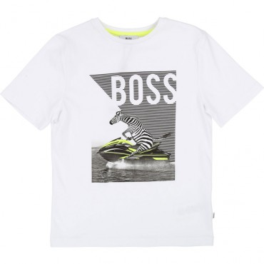 Koszulka dla dziecka z printem Hugo Boss 002694