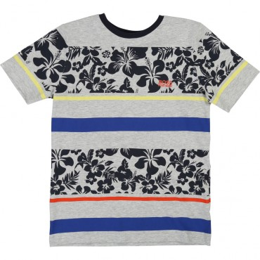 Chłopięca koszulka w pasy Hugo Boss 002695