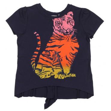 Bluzka dziewczęca tęczowy tygrys Twin Set 002713