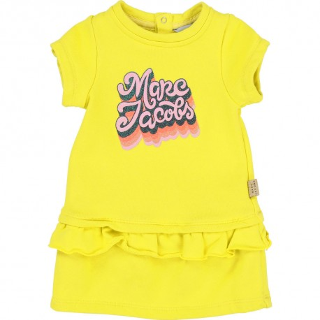 Żółta sukienka z logo Little Marc Jacobs 002715 B