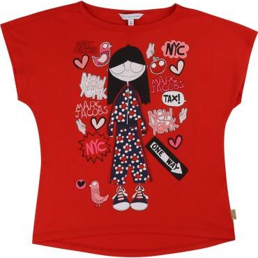 Koszulka dziewczęca Little Marc Jacobs 002717