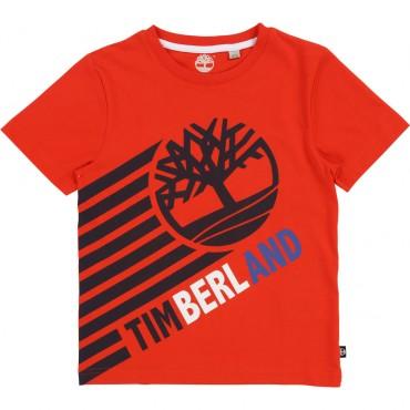 Ubrania dla dzieci, koszulka chłopięca Timberland 002753.