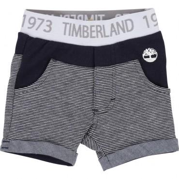 Ekskluzywne ubranka dla niemowląt. Szorty niemowlęce Timberland 002761.