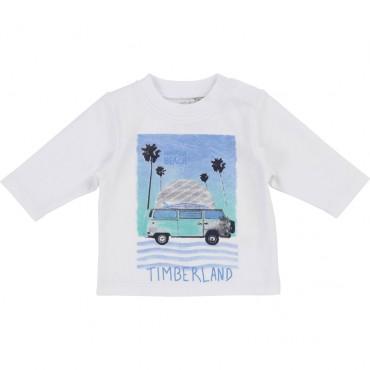 Oryginalna odzież niemowlęca. Koszulka dla chłopca Timberland 002763.