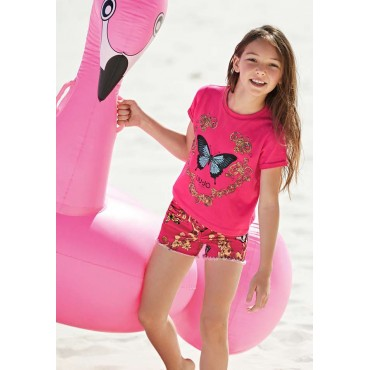 Ekskluzywne ubrania dla dzieci Liu Jo - koszulka dziewczęca z motylem 002605