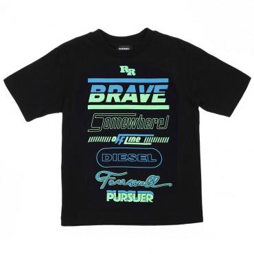 Oryginalna koszulka chłopięca Diesel 002773 A.