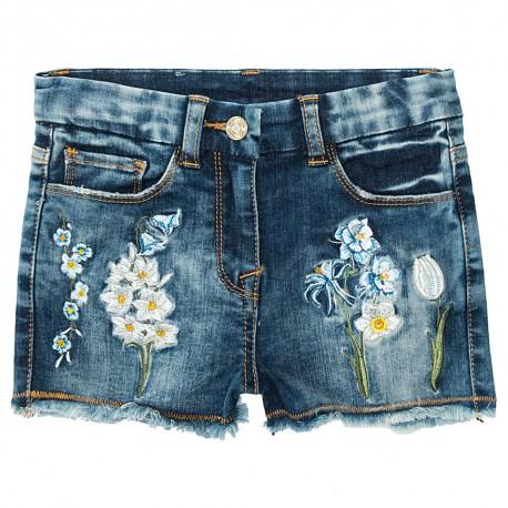 Jeansowe szorty dziewczęce Monnalisa 002806 a