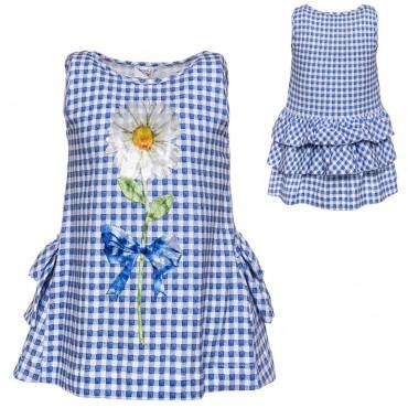 Top dziewczęcy Monnalisa 002815, markowa odzież dla dzieci.