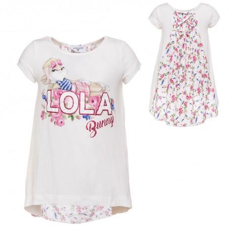 44910620f69f68 Biała koszulka Lola Bunny dla dziewczynki Monnalisa - odzież ...