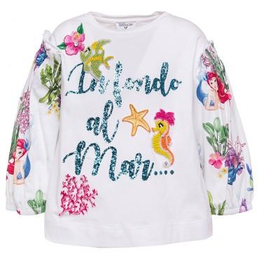 Bluzka dziewczęca Monnalisa 002817, oryginalne ubrania dla dzieci.