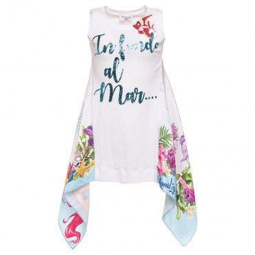 Top dla dziewczynki Monnalisa 002820, luksusowa odzież dziewczęca.