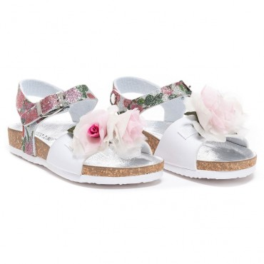 Sandały dziewczęce Monnalisa 002830, oryginalne buty dla dzieci.