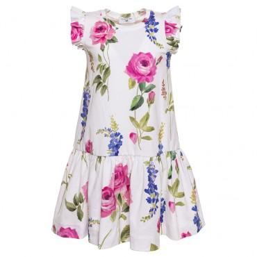 Sukienka w kwiaty Monnalisa 002831 E
