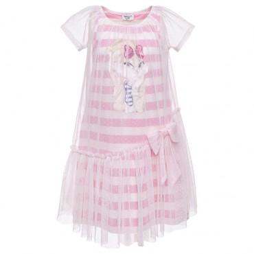 Sukienki dla dziewczynek Monnalisa, dziewczęca sukienka tiulowa 002832.