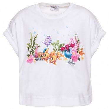 Obszerna koszulka dla dziewczynki Monnalisa 002834