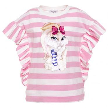 Bluzka dziewczęca Monnalisa 002835, moda dla dzieci.