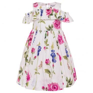 Sukienki dla dziewczynek, ekskluzywna sukienka Monnalisa 002837.