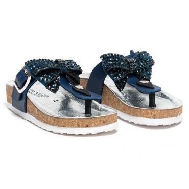 Klapki dziewczęce Monnalisa 002836, markowe obuwie dla dzieci.