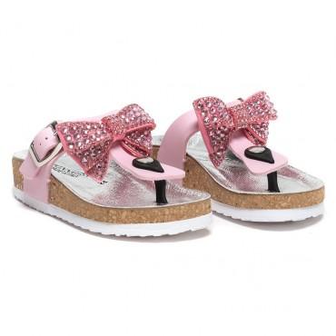 Klapki dziewczęce Monnalisa 002839, markowe obuwie dla dzieci.