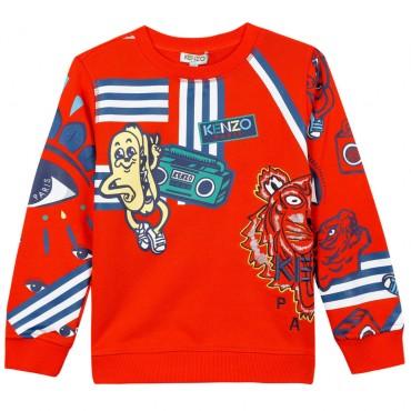 Czerwona bluza dla dziecka Kenzo 002856