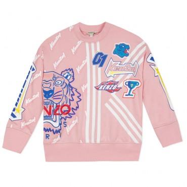 Bluza z nadrukami dla dziewczynki Kenzo 002859