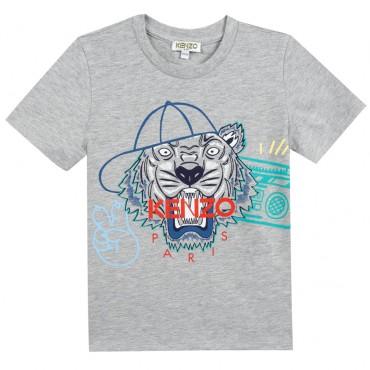 T-shirt chłopięcy z tygrysem Kenzo 002861