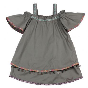 Ekskluzywne ubrania dla dzieci. Sukienka dla dziewczynki Twin Set 002776.