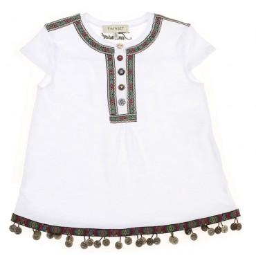 Oryginalne ubrania dla dzieci. Bluzka dziewczęca Twin Set 002865 A.