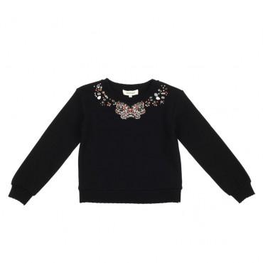 Czarna bluza dla dziewczynki Twin Set 002874