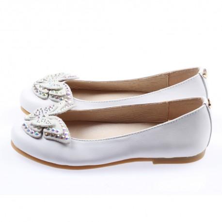 Baleriny dziewczęce Twin Set 002879 A - ekskluzywne buty dla dzieci