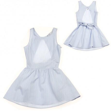 Sukienka błękitna w paski Patrizia Pepe 002895 A