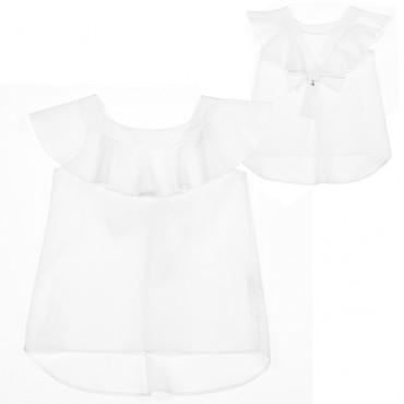 Biała bluzka dla dziewczynki Patrizia Pepe 002897