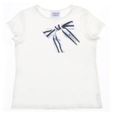 Koszulka z kokardką Armani Junior 002902 A